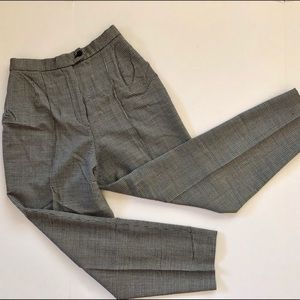 Vintage Houndstooth high waisted tapered pants